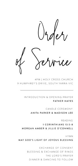 Linear - Order of Service