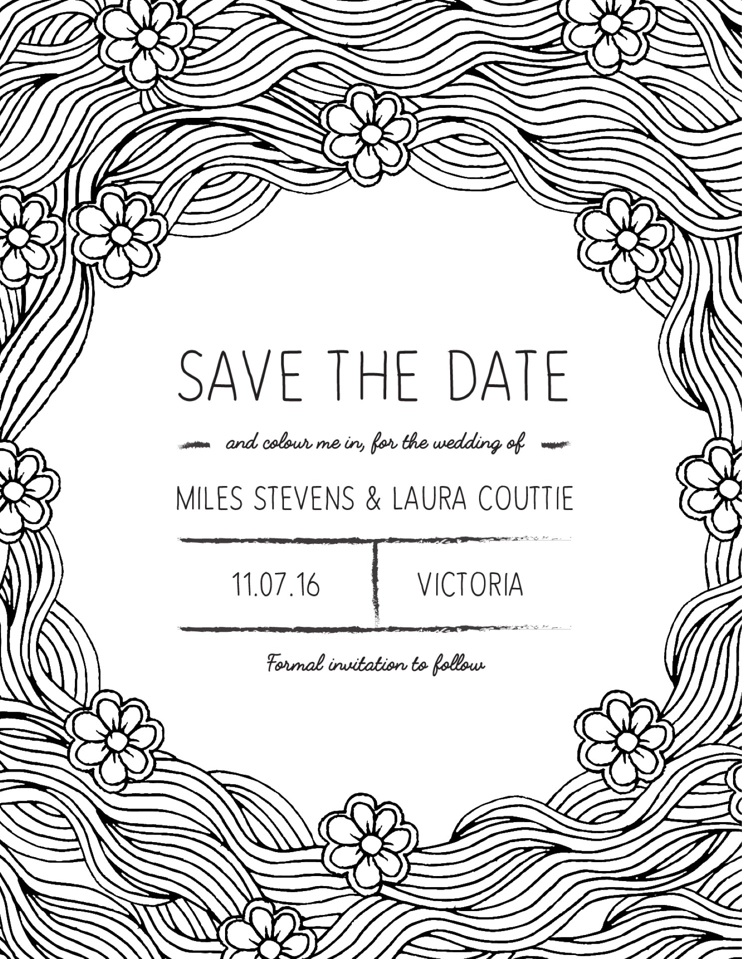 Colour Me - Save The Date