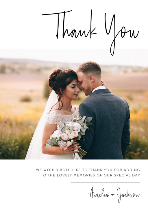Linear Thank You - Thank You Cards