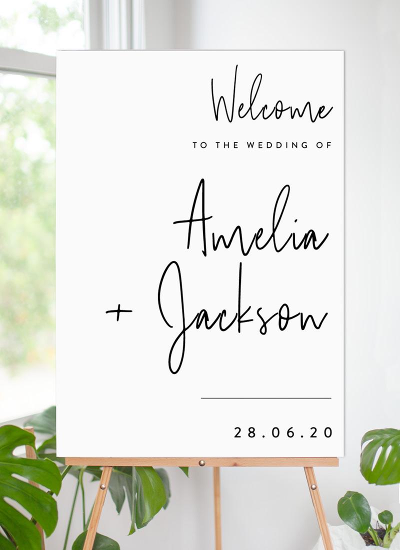 Linear - Wedding Signs