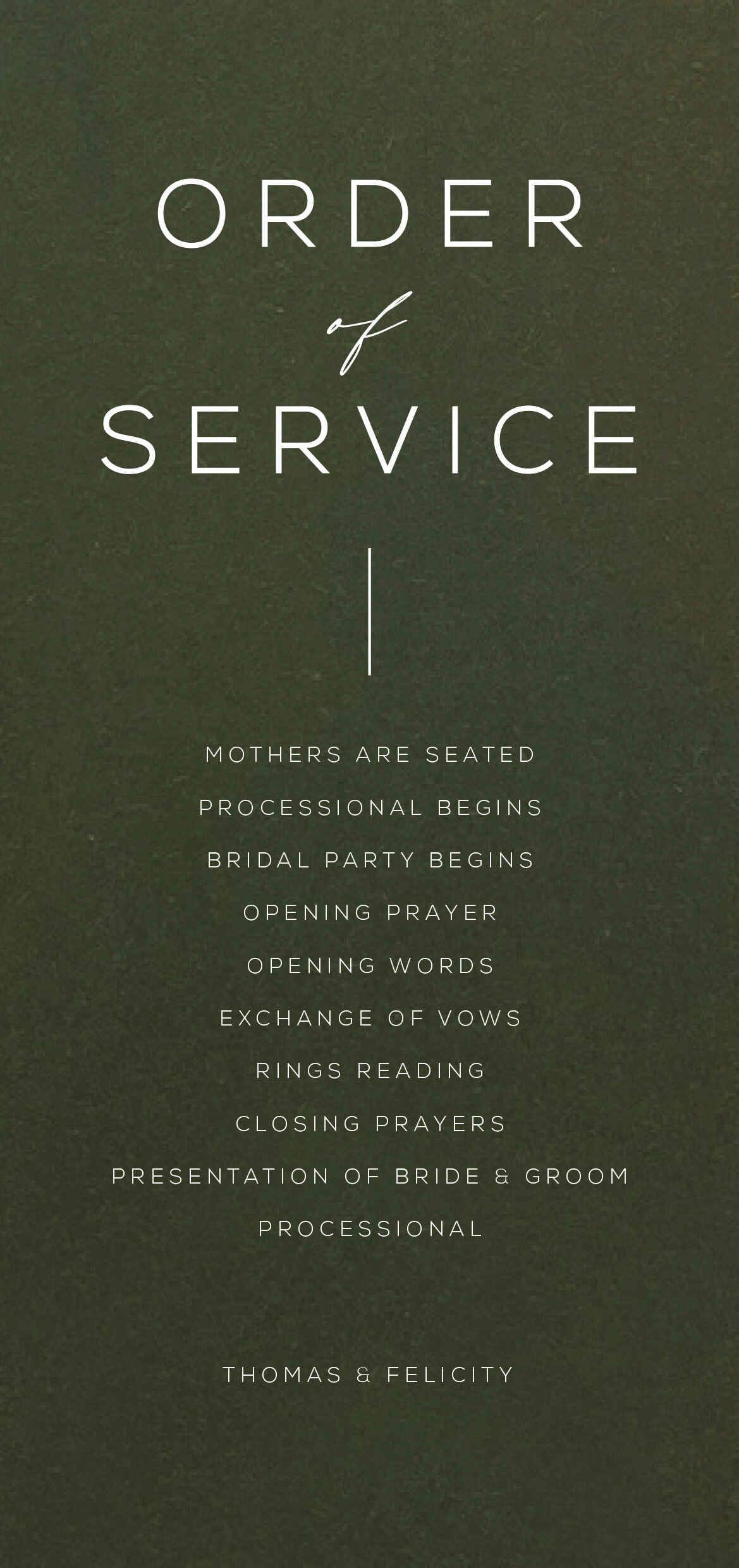 Verde - Wedding Programs