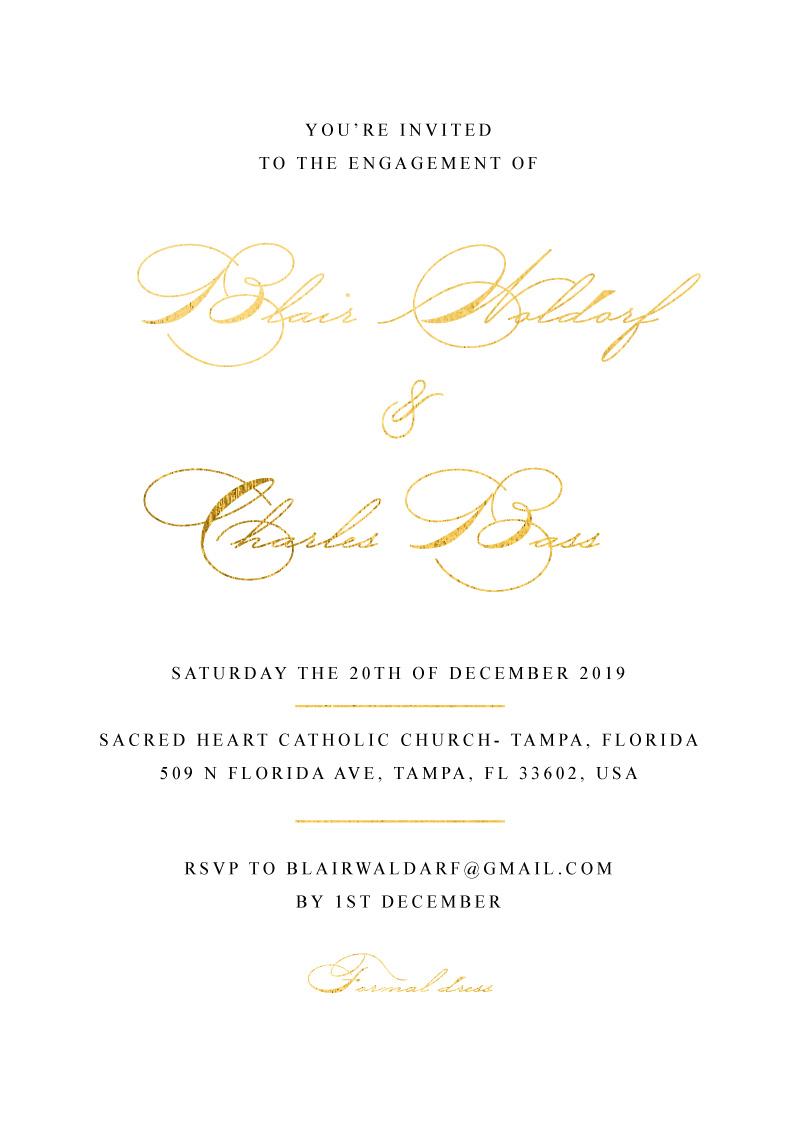Lucullan - Engagement Invitations