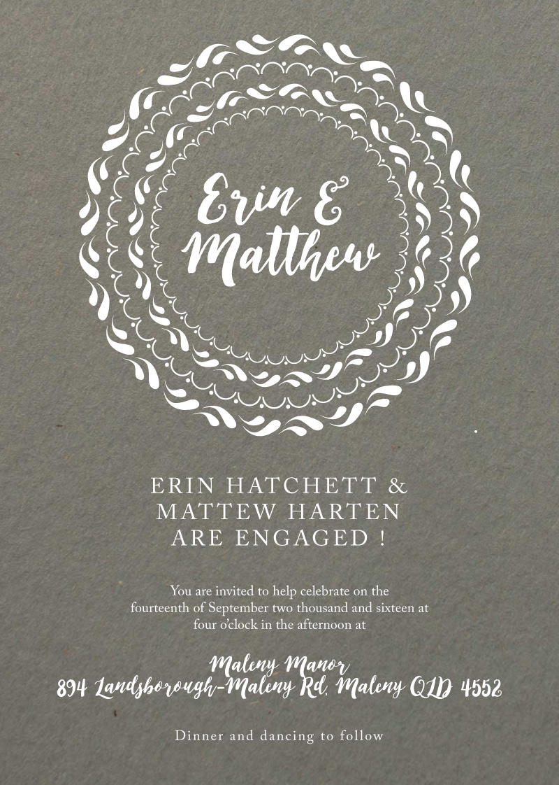 Floral Mandala - engagement invitations