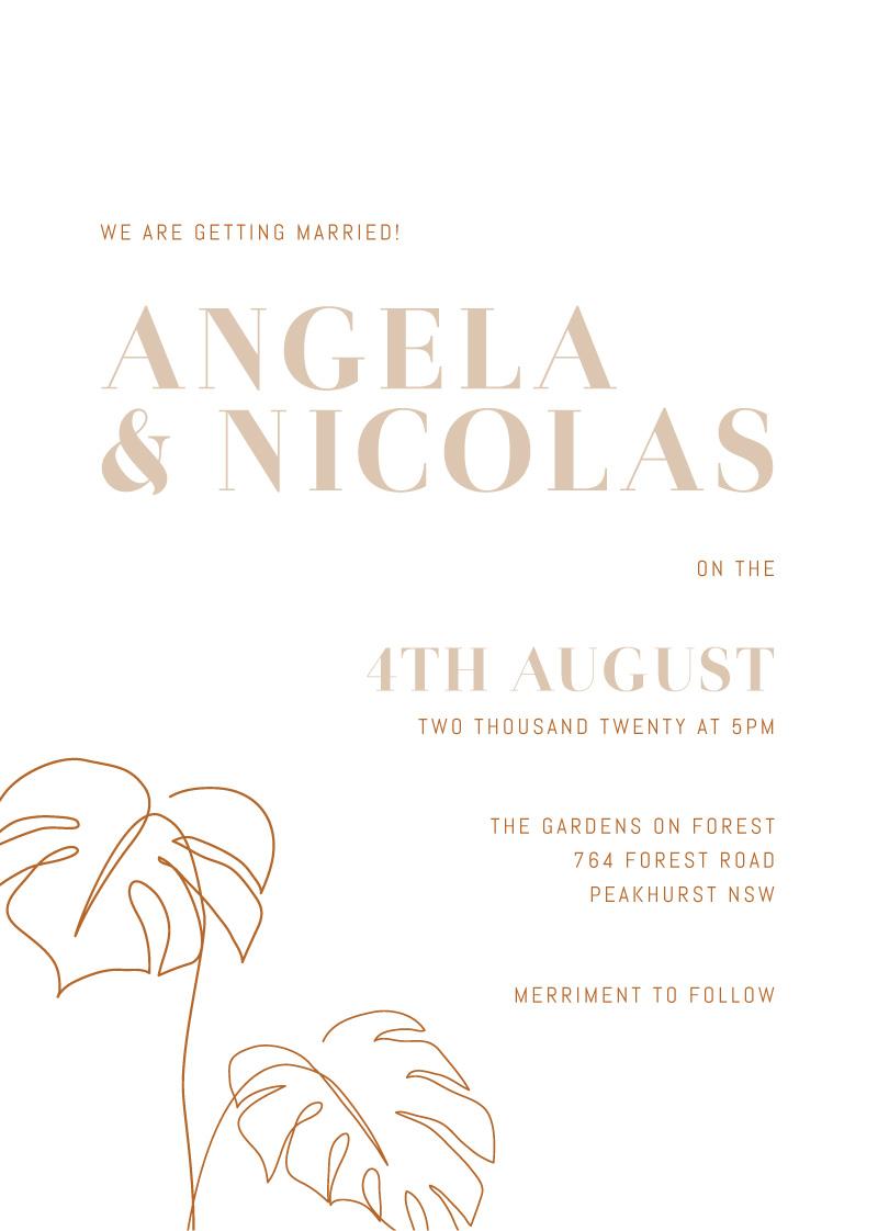Tawny - Wedding Invitations