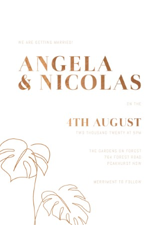 Tawny Wedding Invitations - wedding invitations