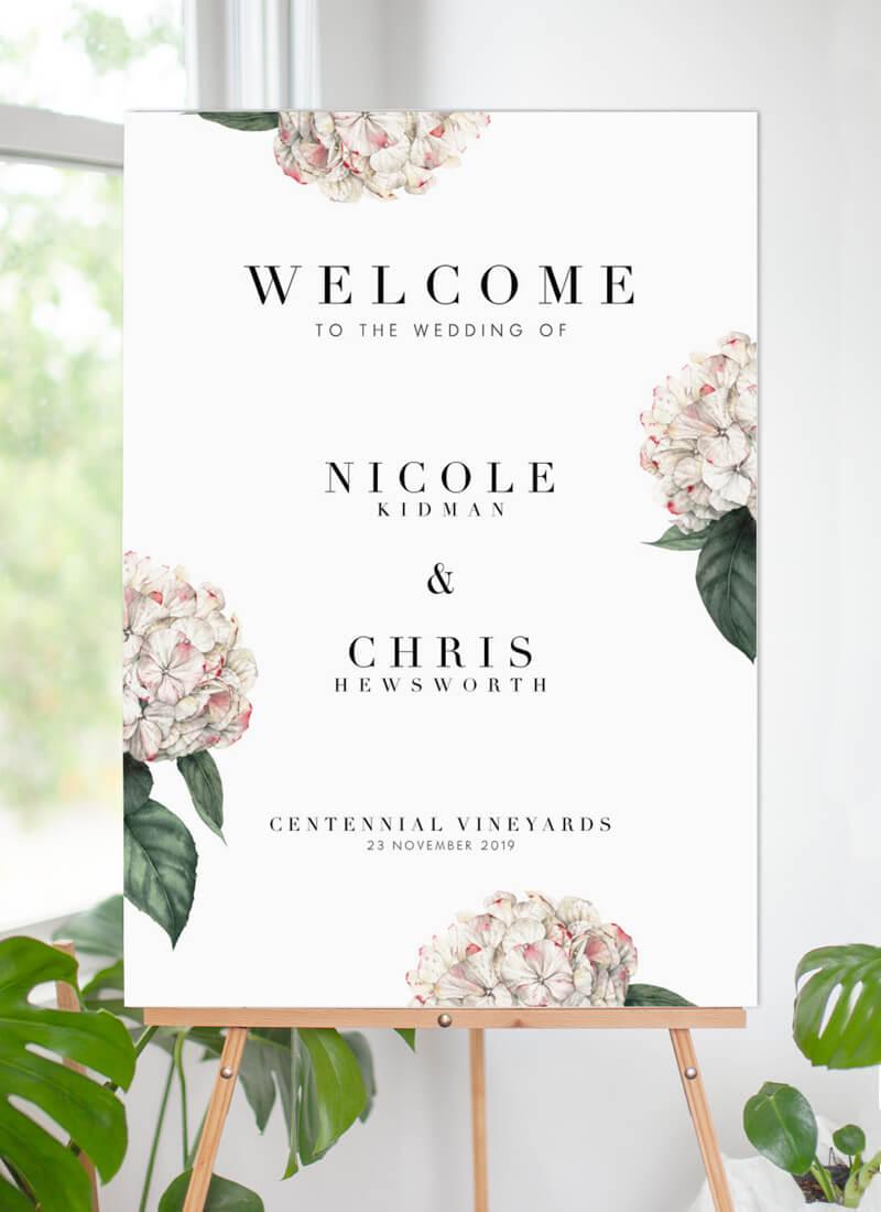 Hydrangea - Wedding Signs