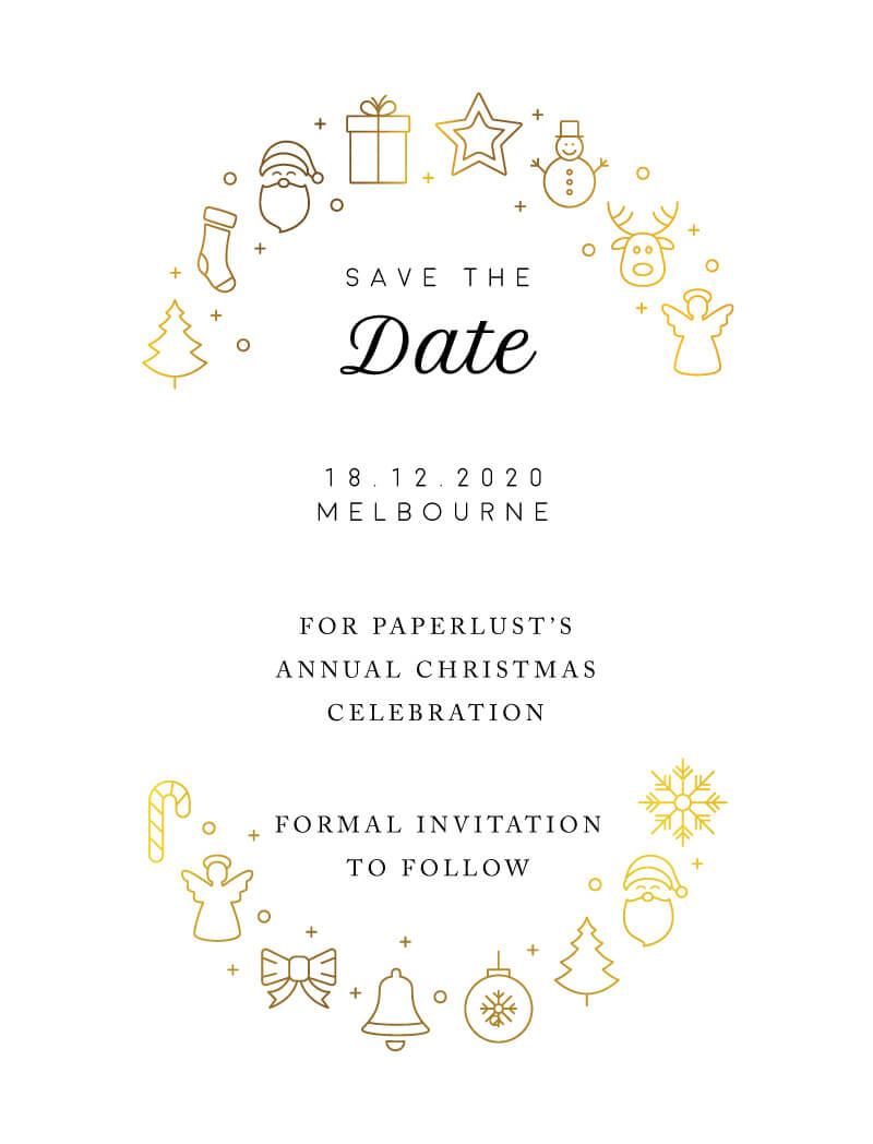 A Christmas Feast - Save The Date