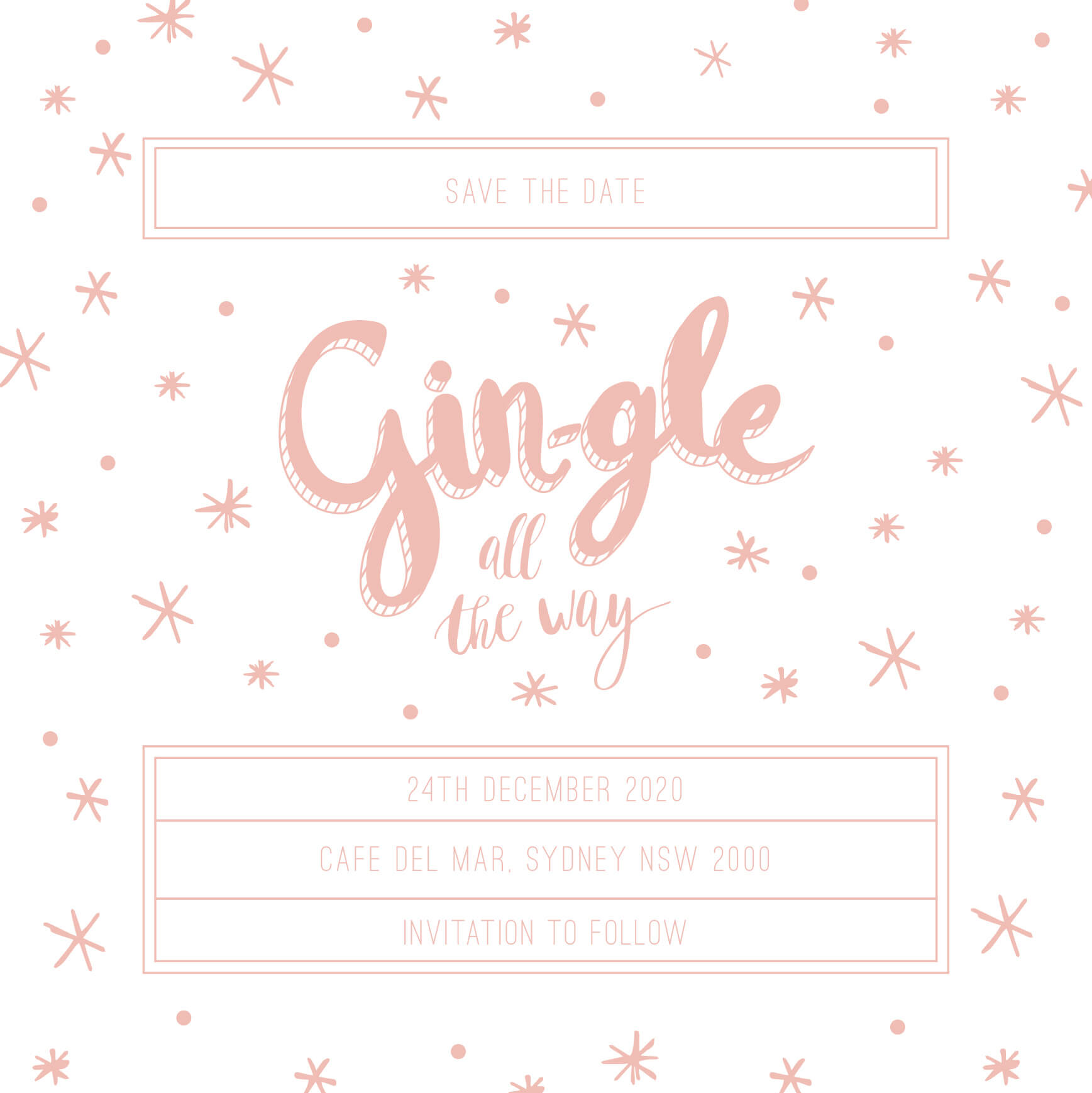 Gin-gle all the way - Save The Date