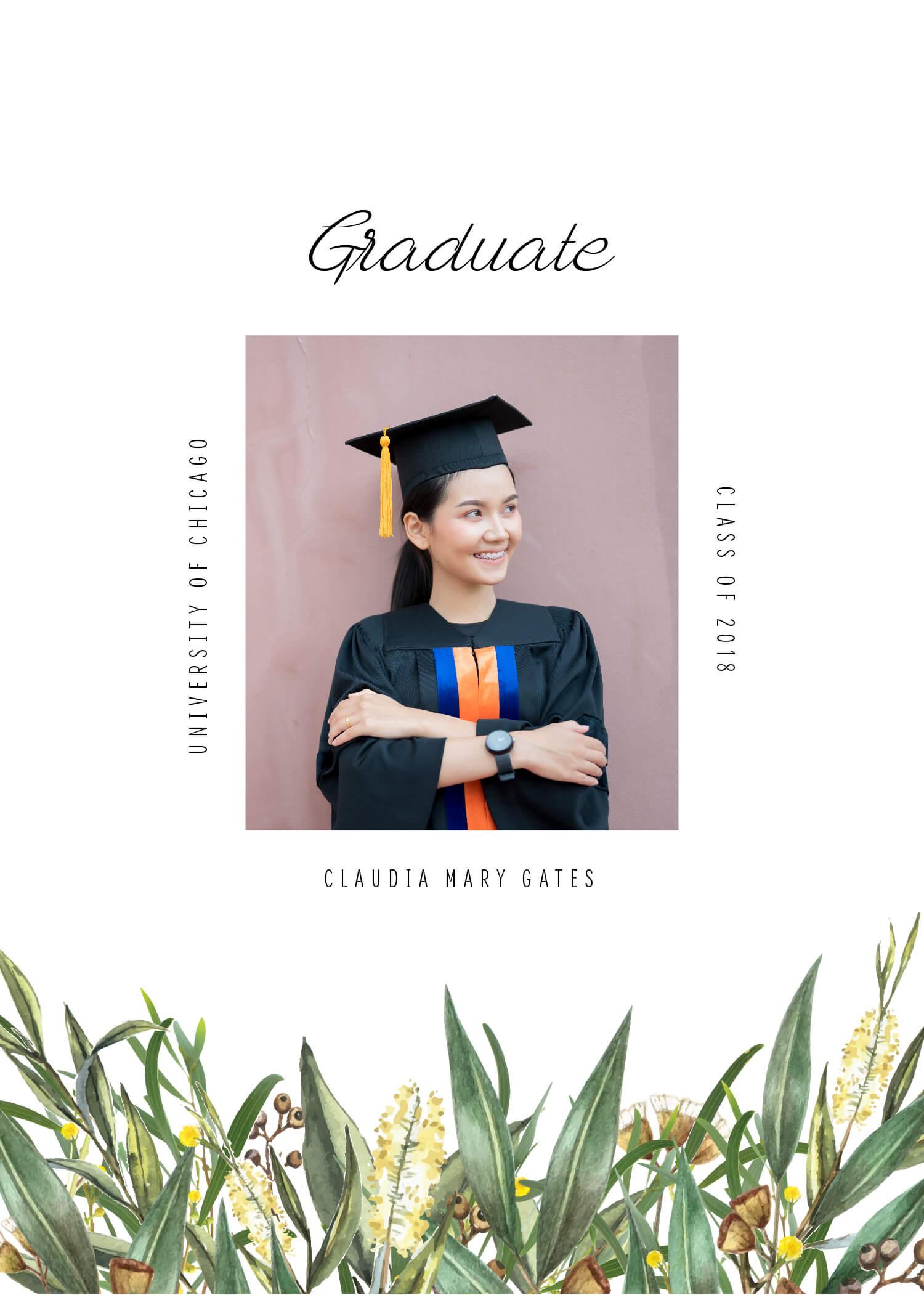A Bouquet - Graduation Invitations & Announcements