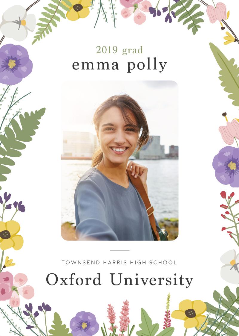 Bonny Bloom - Graduation Invitations & Announcements