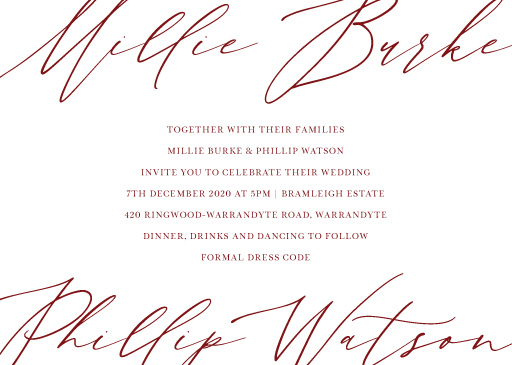 The Letters Wedding Invitations - wedding invitations