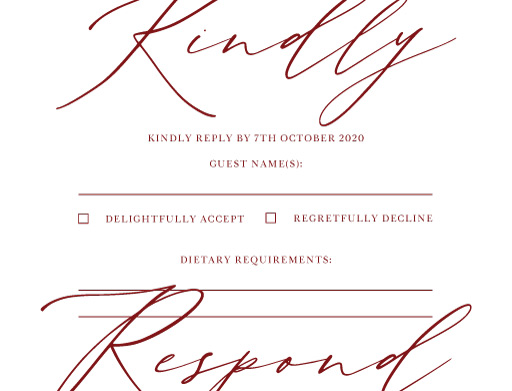 The Letters - RSVP Cards