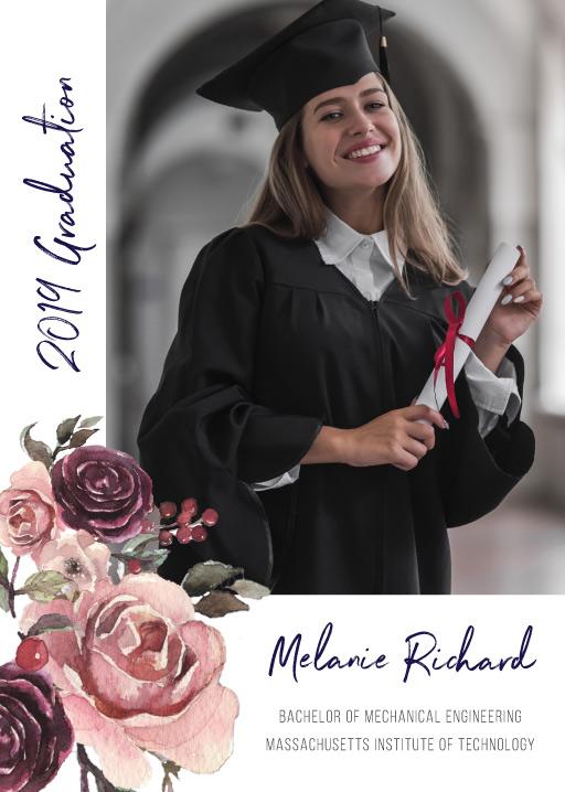 Flower Anchor - Graduation Invitations & Announcements