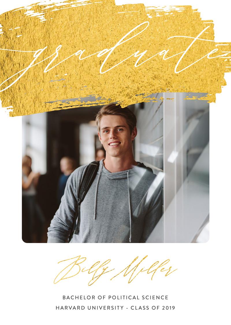 Golden Sweep - Graduation Invitations & Announcements