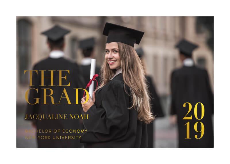 Serif Stroke - Graduation Invitations & Announcements