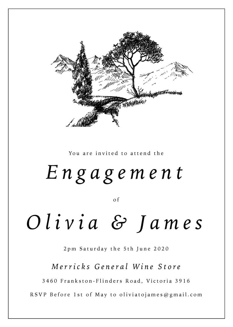 Love Land - Engagement Invitations