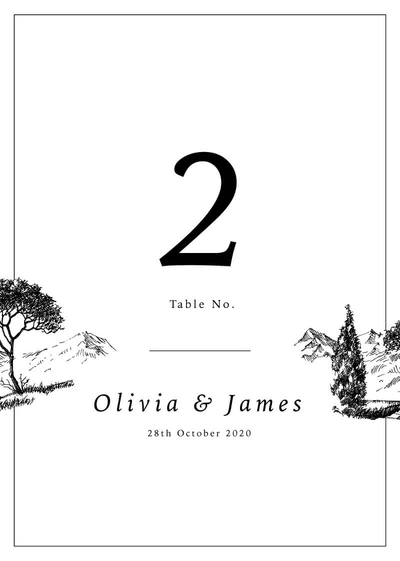 Love Land - Table Numbers