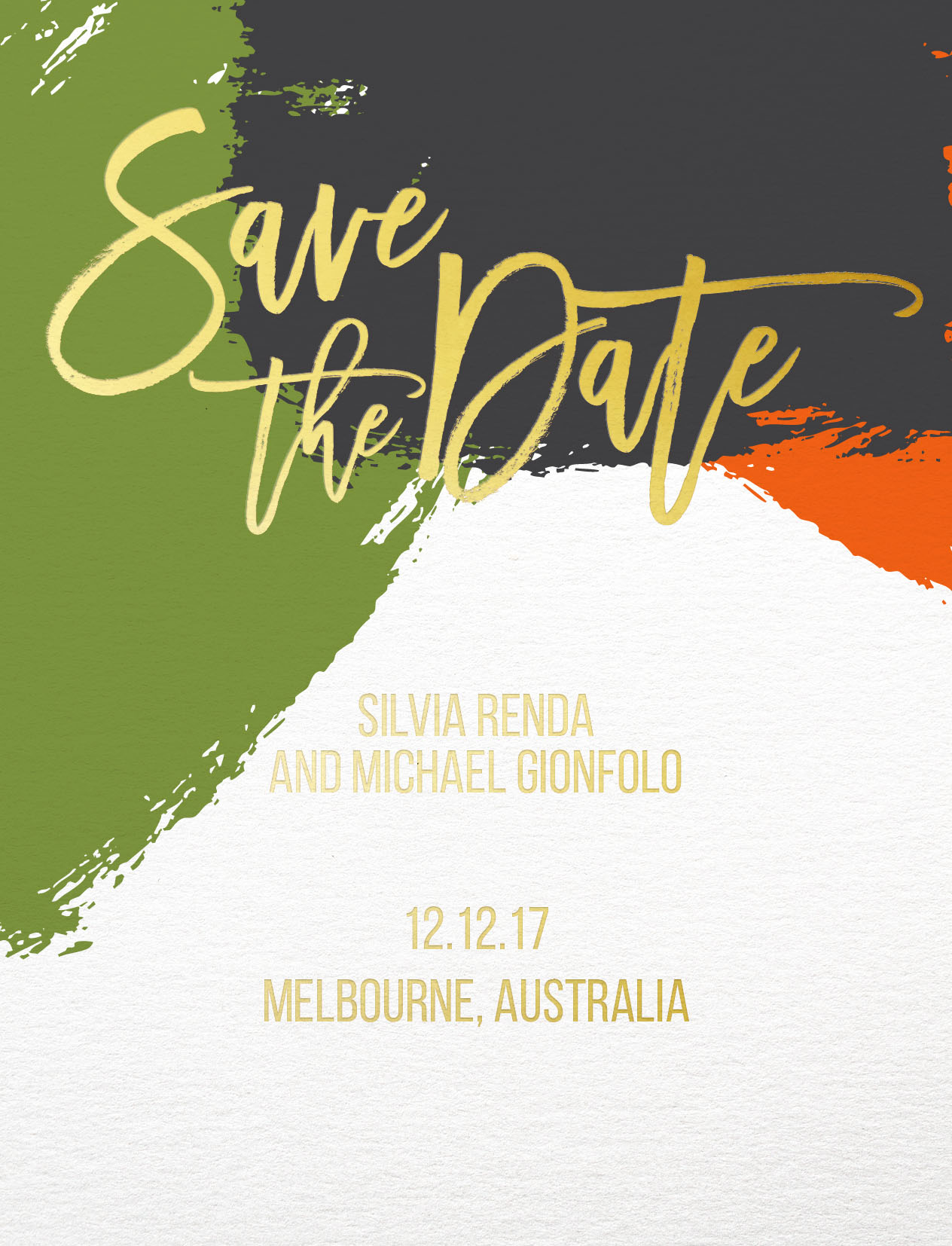 Colour block - Save The Date