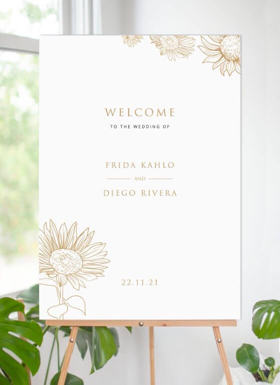 Golden Sunflower - Wedding Signs