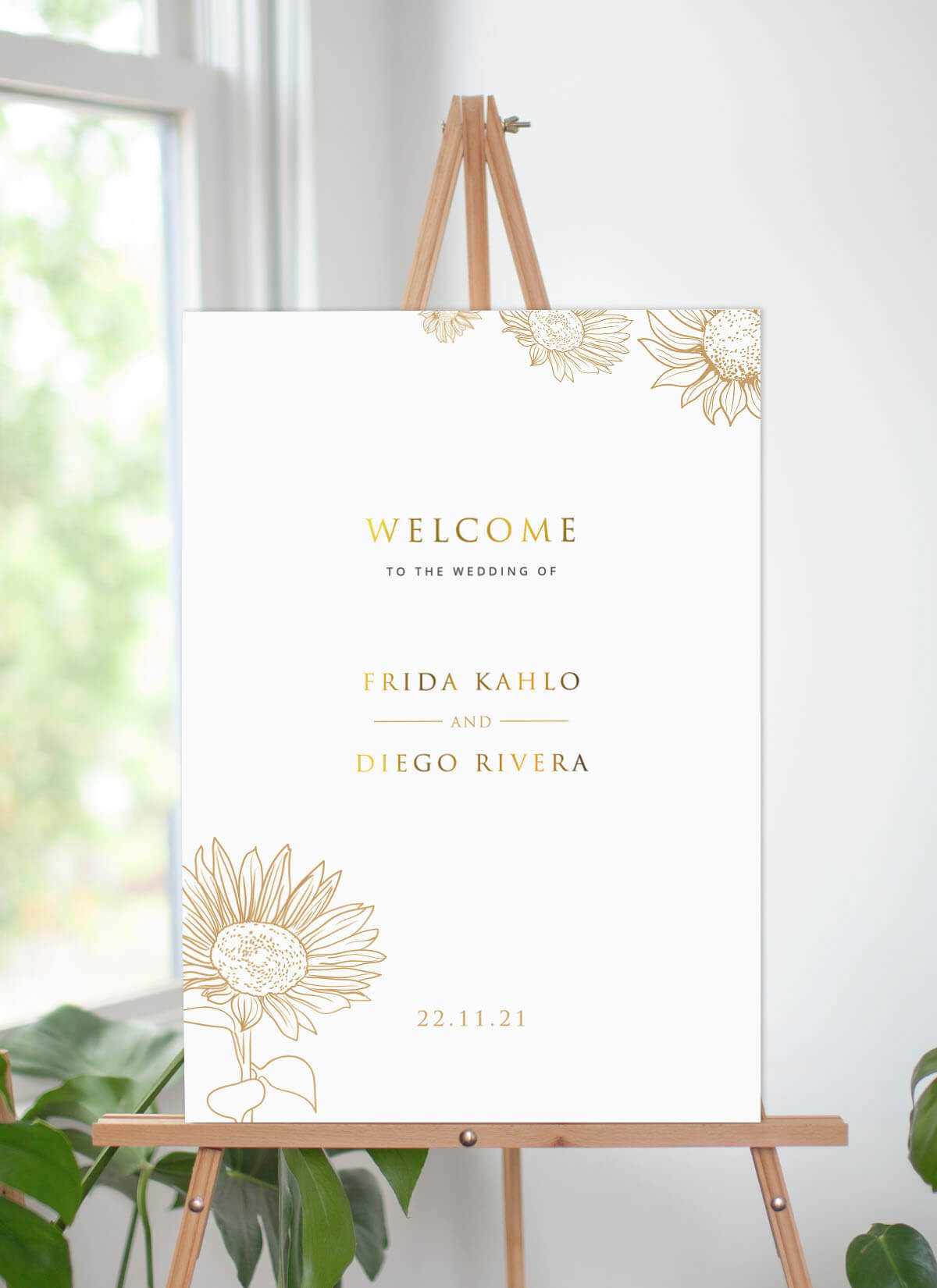 Golden Sunflower - Wedding Signs