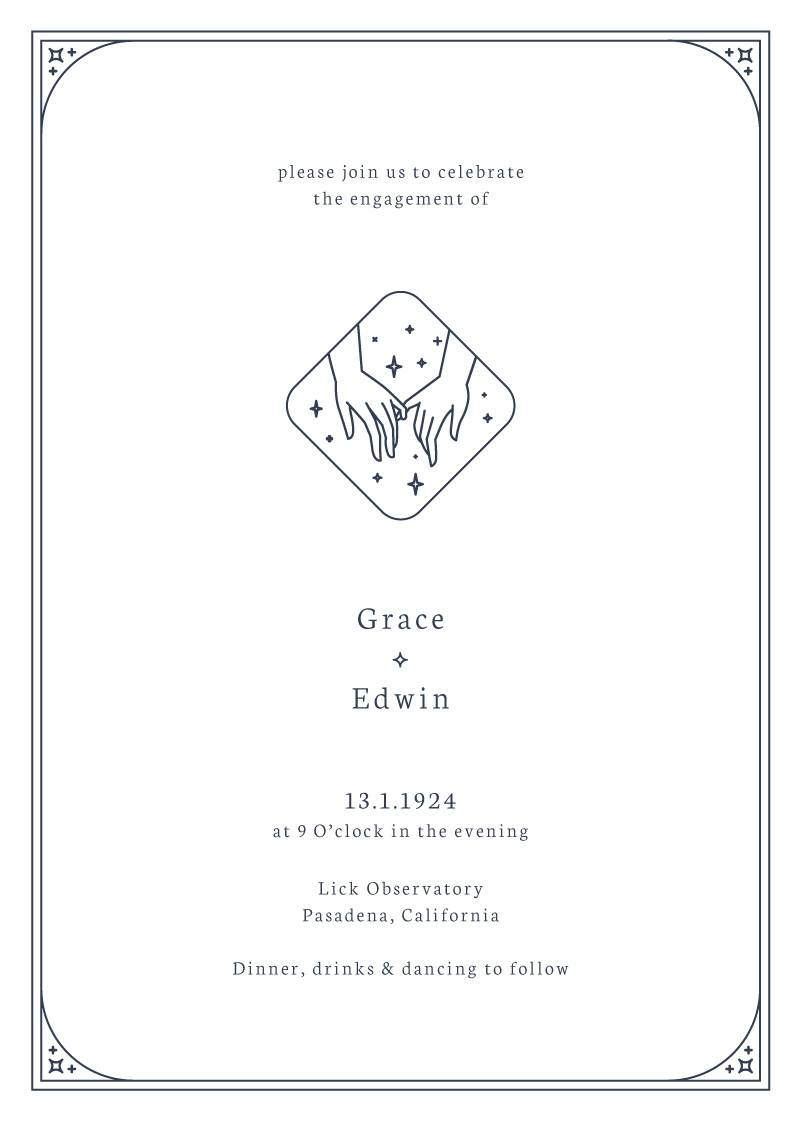 Ad Astra - Engagement Invitations