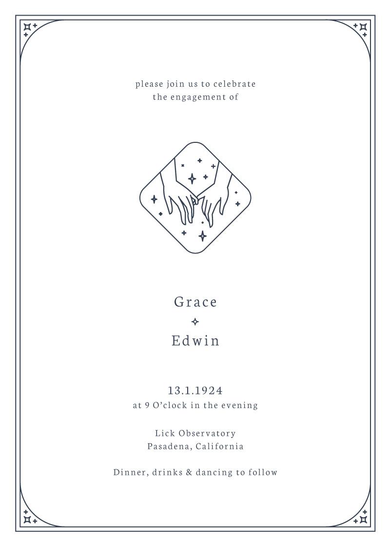 Ad Astra - Engagement Invitations
