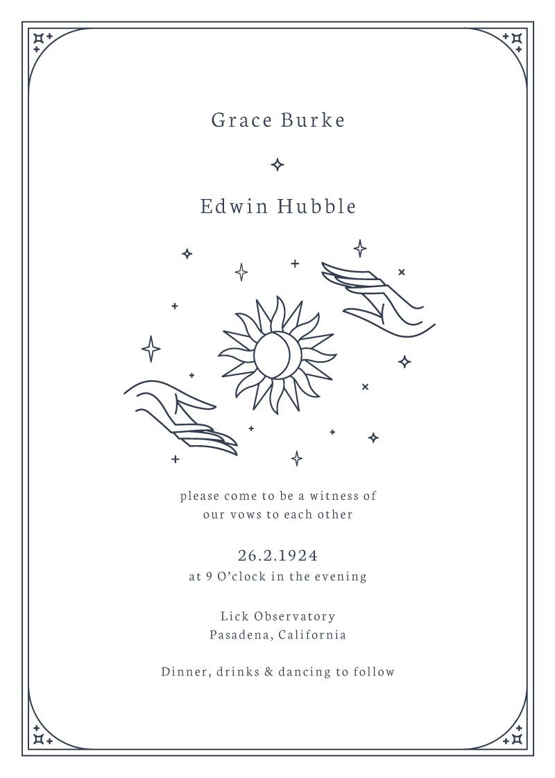 Ad Astra - Wedding Invitations