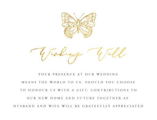 Golden Butterfly - Wishing Well