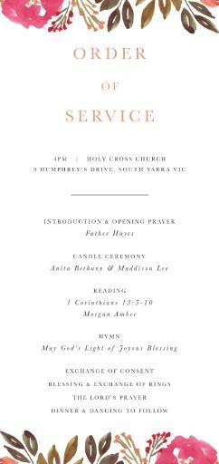 Violet Fall - Wedding Programs