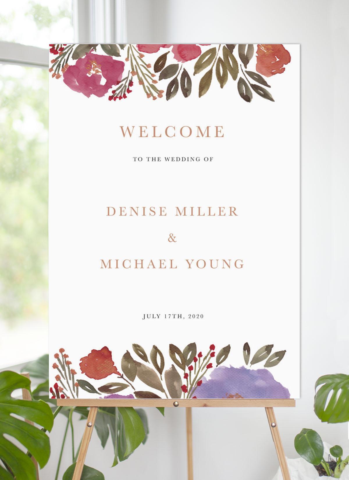 Violet Fall - Wedding Signs