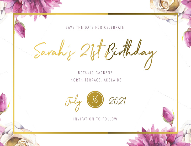 Flower Girls - Save The Date