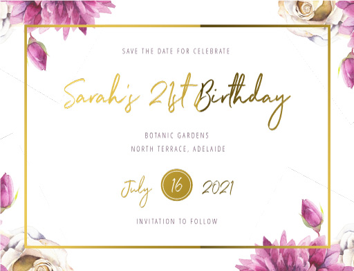 Flower Girls Save The Date - Save The Date