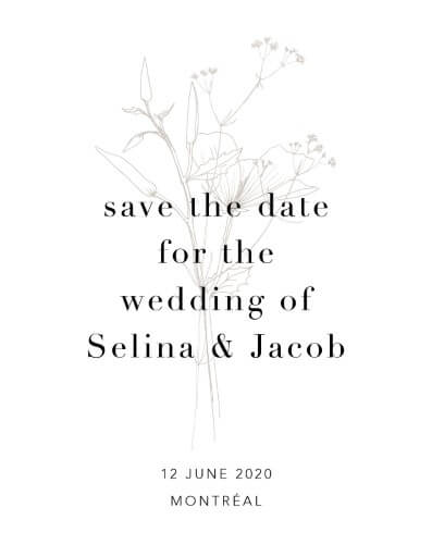 Delilah Save The Date - Save The Date