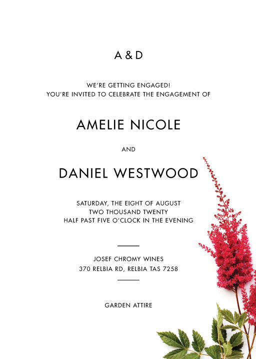 Blooming Red - engagement invitations