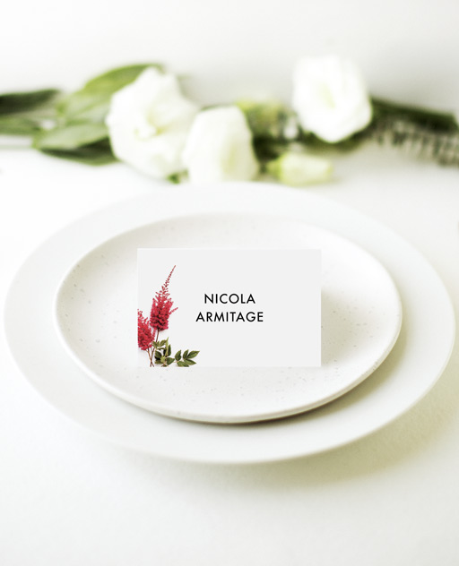Blooming Red - Place Cards
