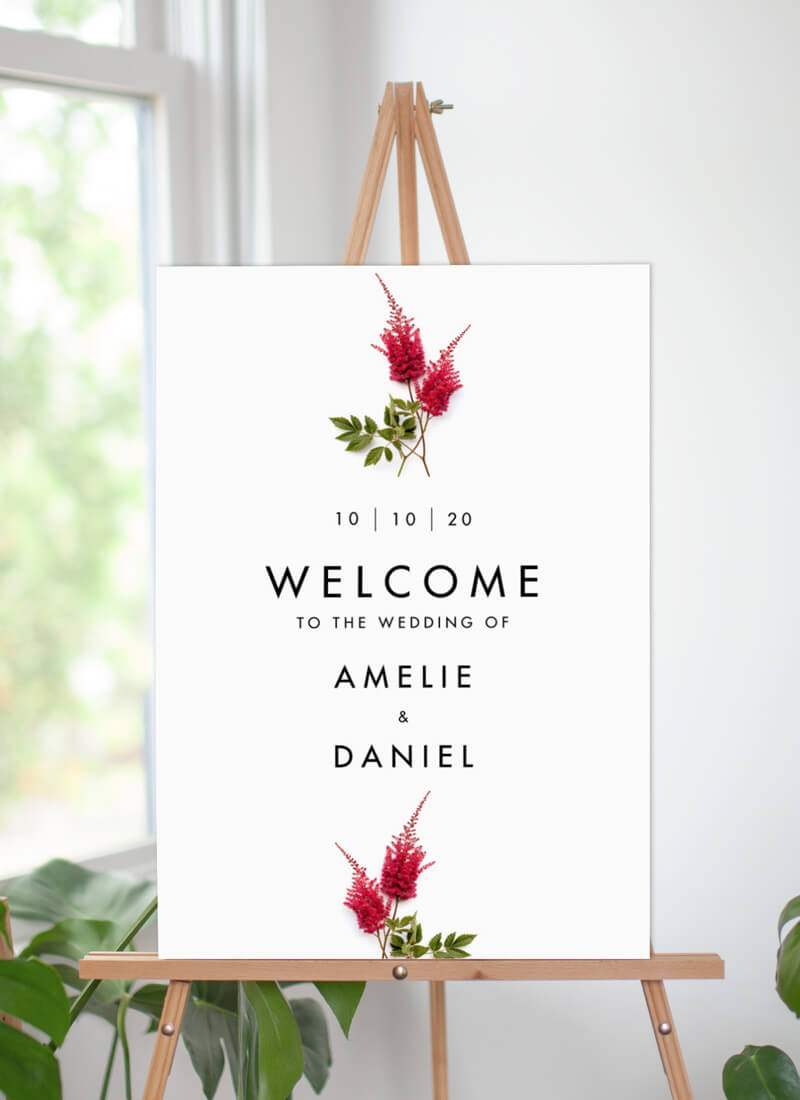 Blooming Red - Wedding Signs