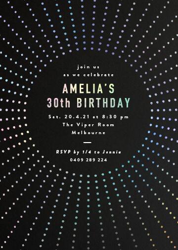 Burst - Birthday Invitations
