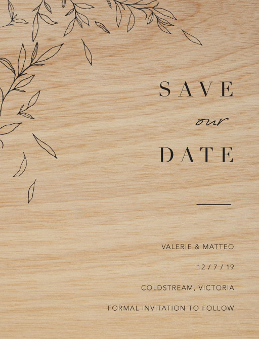 Modern Simplicity Save The Date - Save The Date