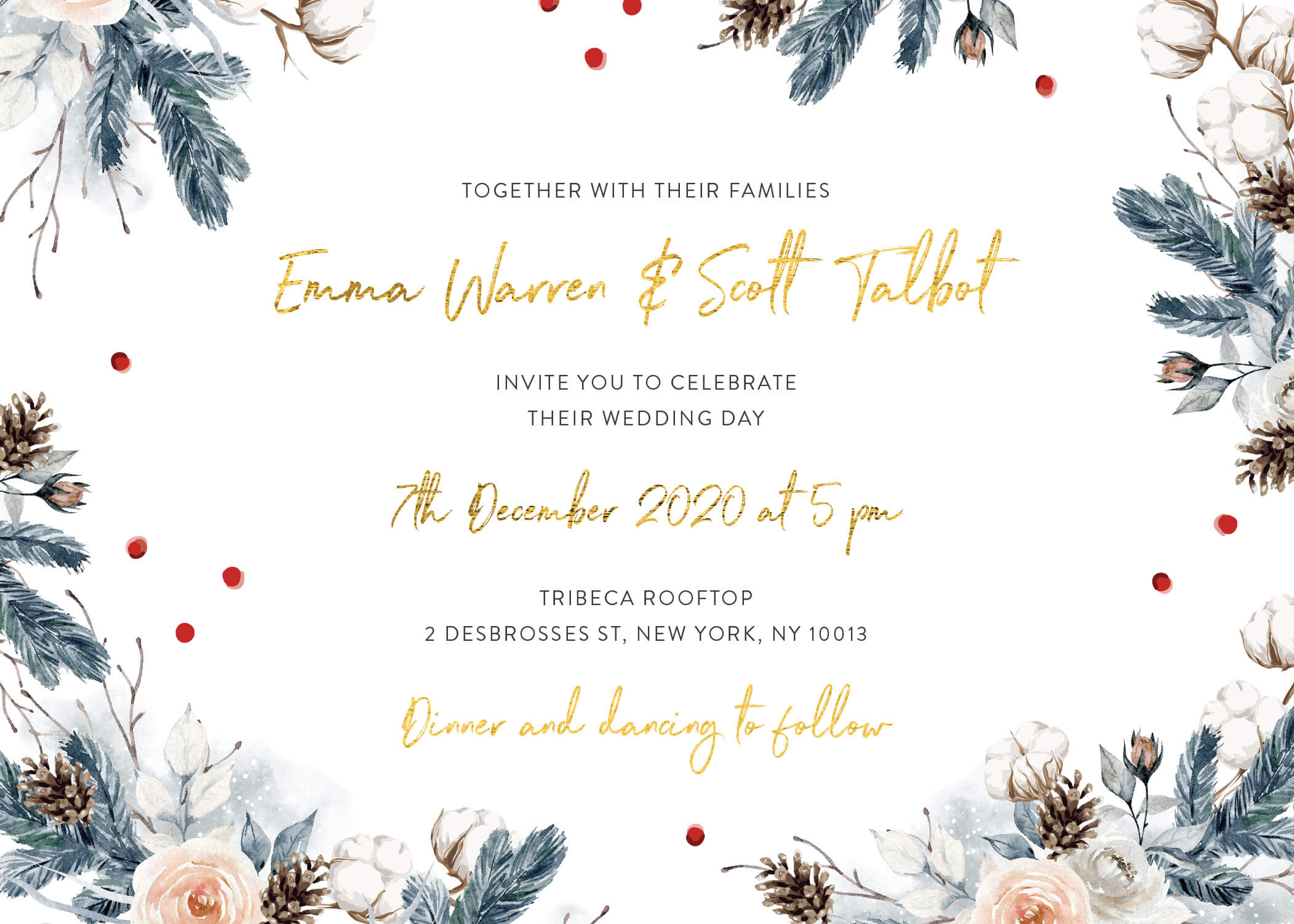 Winter Wonderland - Wedding Invitations