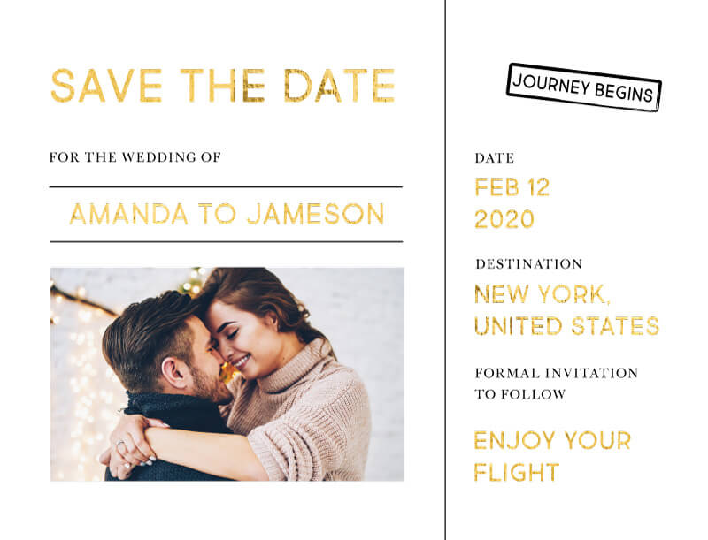 Welcome on Board - Save The Date
