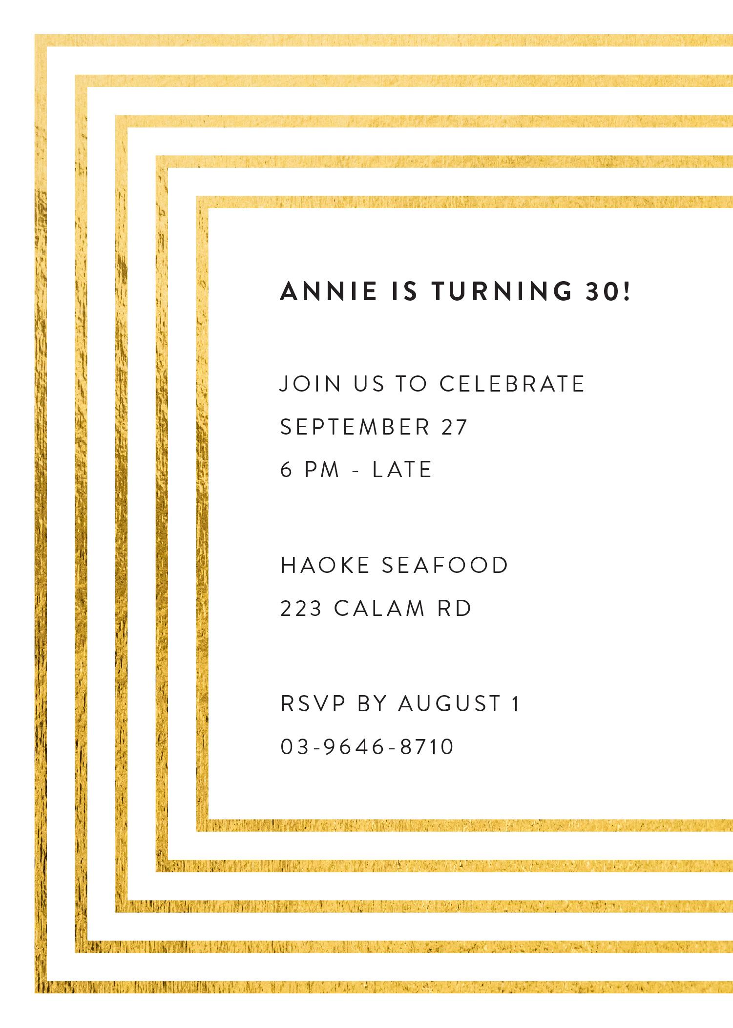 Framed - Birthday Invitations