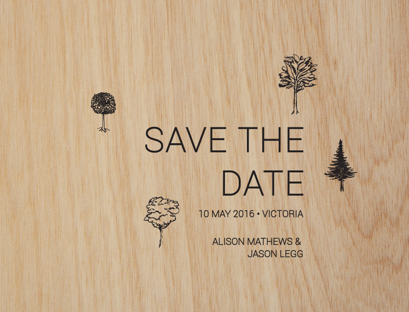 Paper Trees Wedding Set - Save The Date