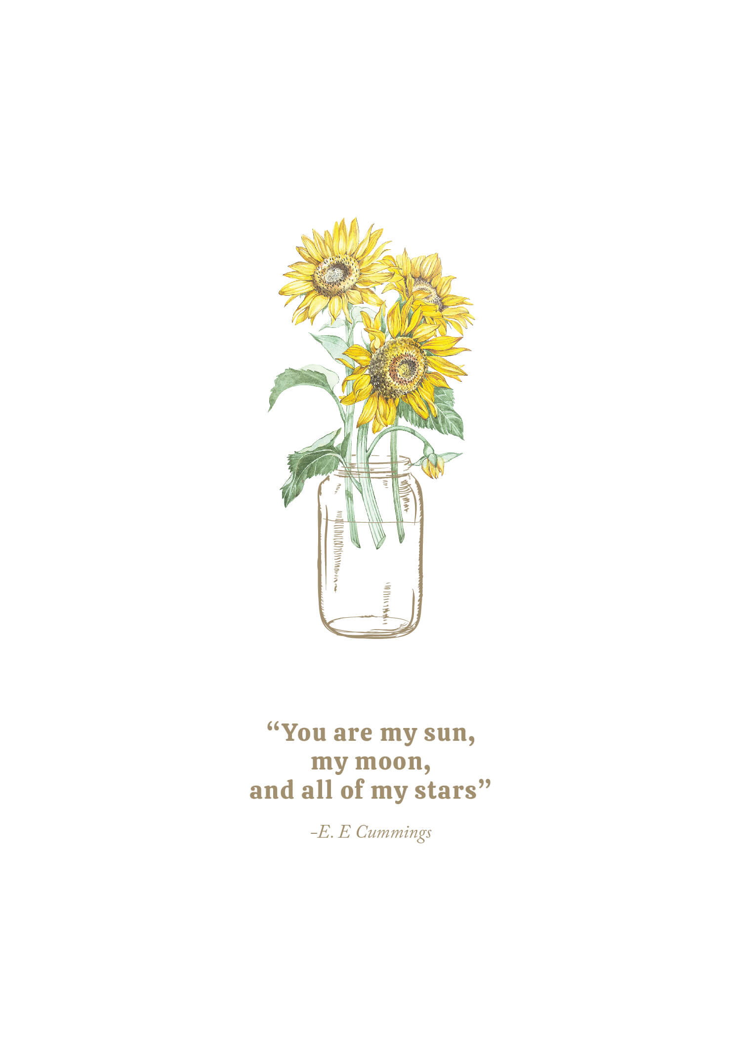 Sunflower Jar - Wedding Invitations