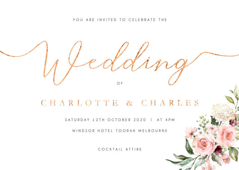 Burnt Butter Cakes - Wedding Invitations