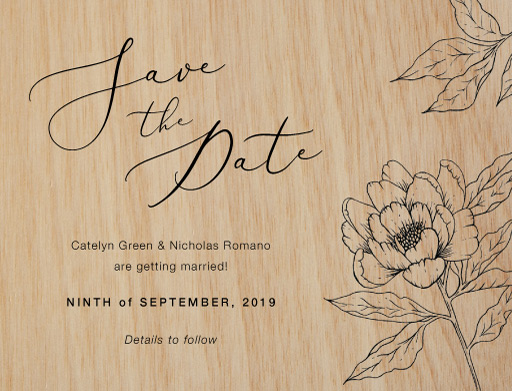 Graphite Bloom Save The Date - Save The Date
