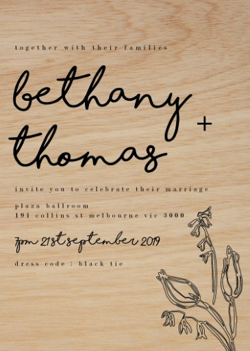 Blanc Bloom Wedding Invitations - wedding invitations