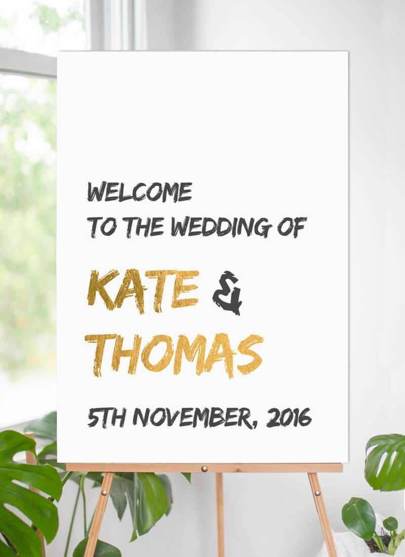XO - Wedding Signs