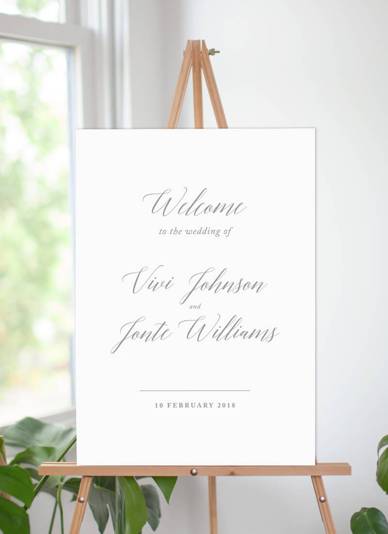 Pastel Script - Wedding Signs