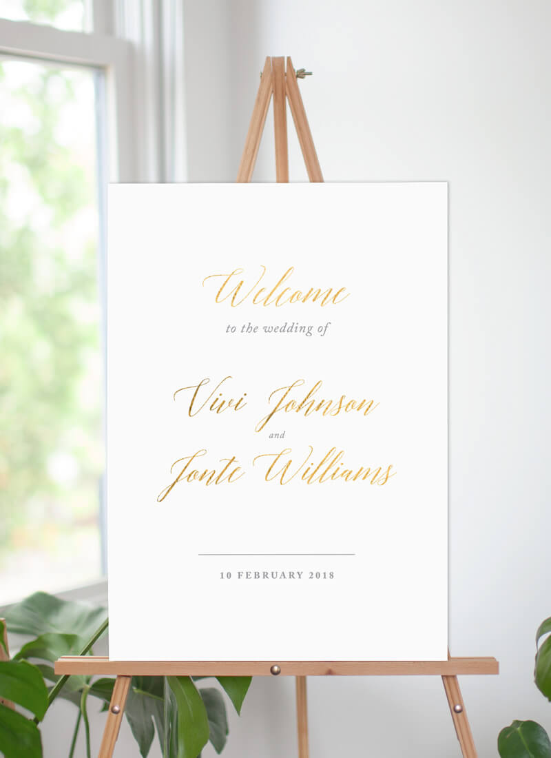 Pastel Script - Wedding Signs