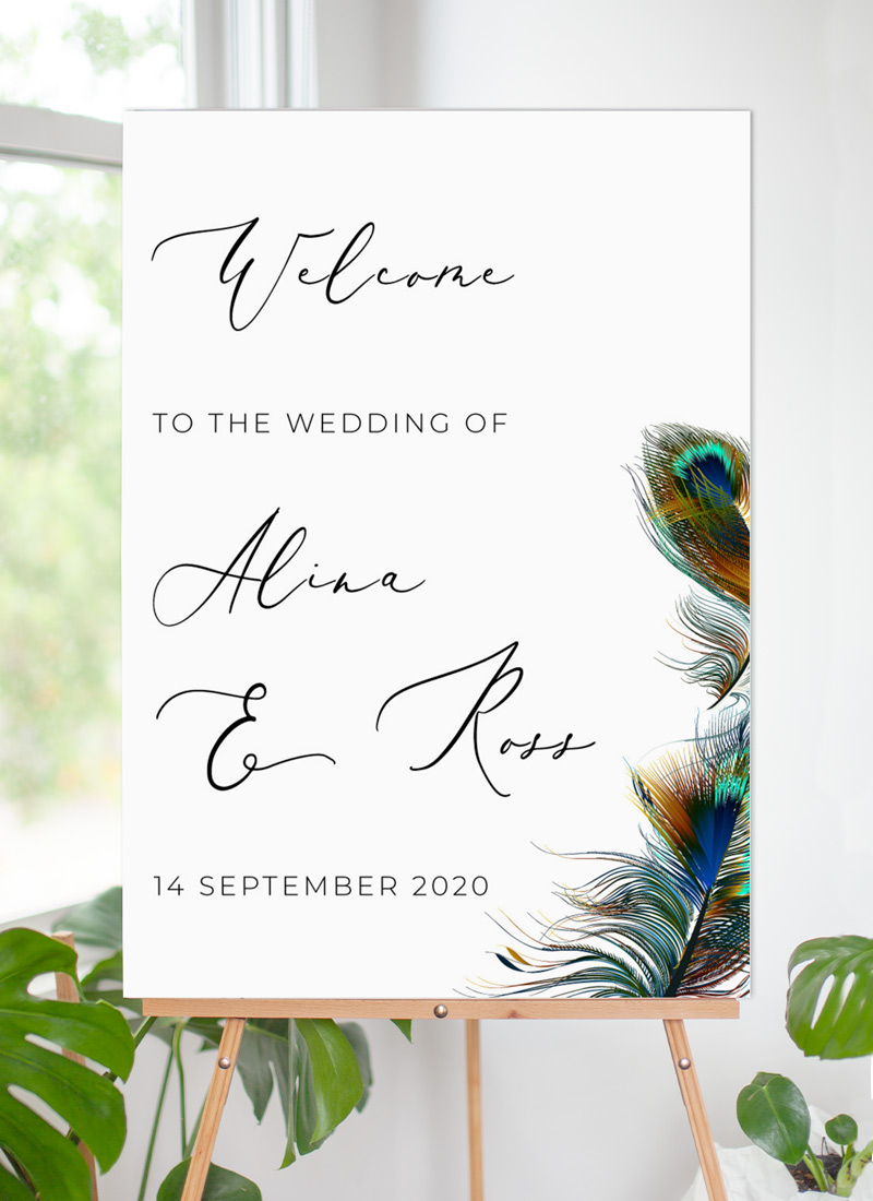 Peacock Blue - Wedding Signs